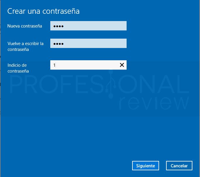 Quitar PIN Windows 10 tuto04