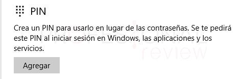 Quitar PIN Windows 10 tuto05