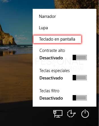 Teclado en pantalla Windows 10 tuto02