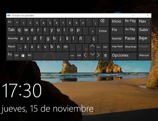 Teclado en pantalla Windows 10 tuto03