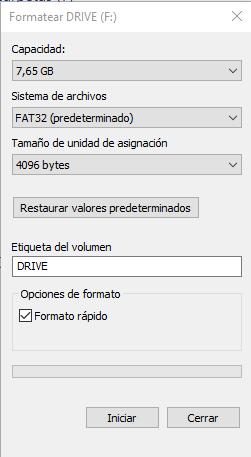 Formatear USB protegido contra escritura tuto07