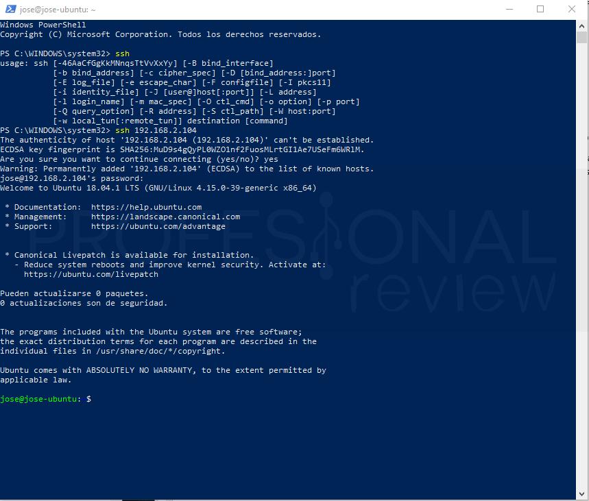 SSH en Windows 10 paso 03
