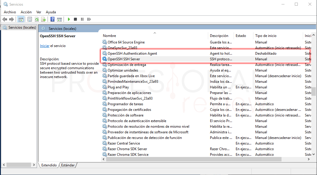 SSH en Windows 10 paso 05