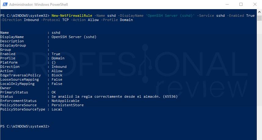 SSH en Windows 10 paso 08