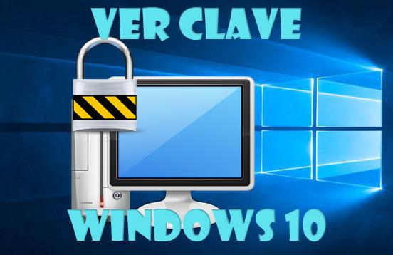 Ver clave Windows 10