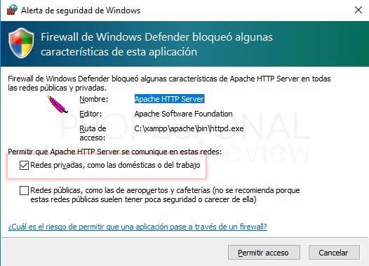 XAMPP en Windows 10 tuto06