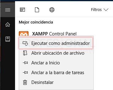 XAMPP en Windows 10 tuto12
