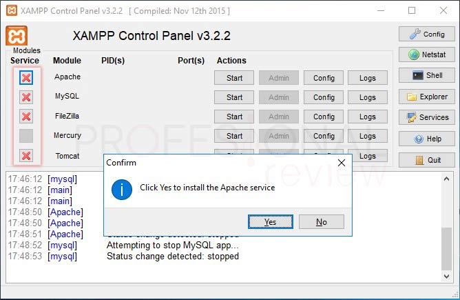 XAMPP en Windows 10 tuto14