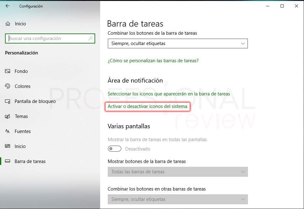 Activar icono de batería Windows 10 paso 06