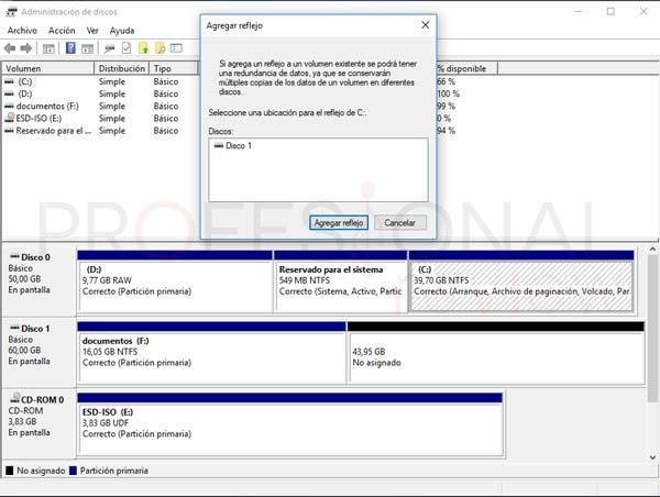 Administrador de disco duro en Windows 10 tuto07