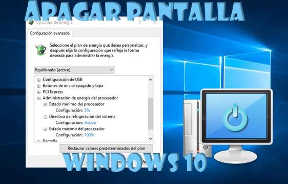 Pantalla en Windows 10