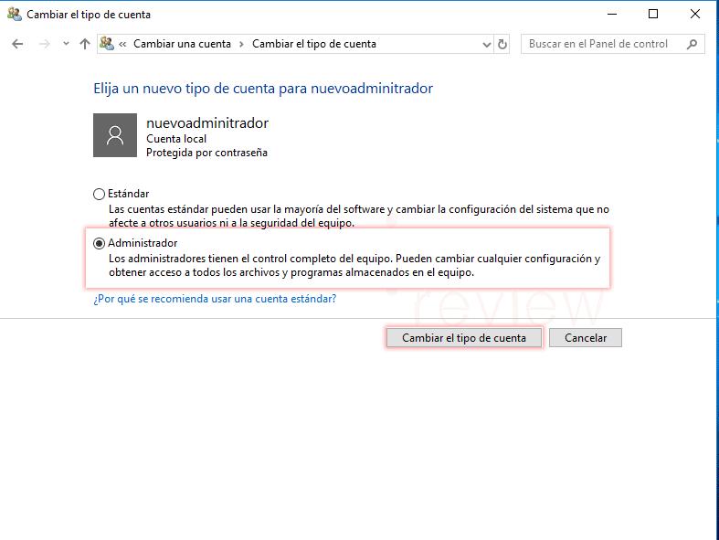 Cambiar administrador de Windows 10 tuto08