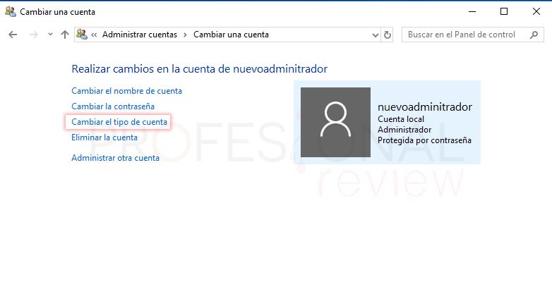 Cambiar administrador de Windows 10 tuto09