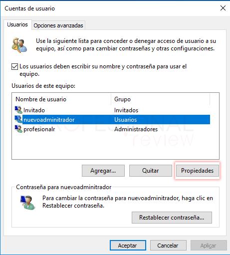 Cambiar administrador de Windows 10 tuto13