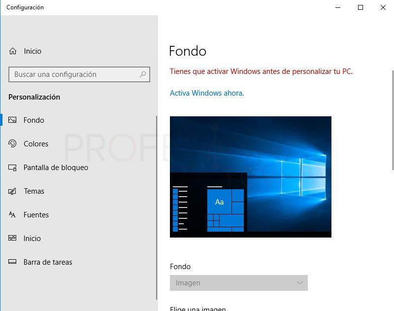 Quitar fondo de pantalla windows 10