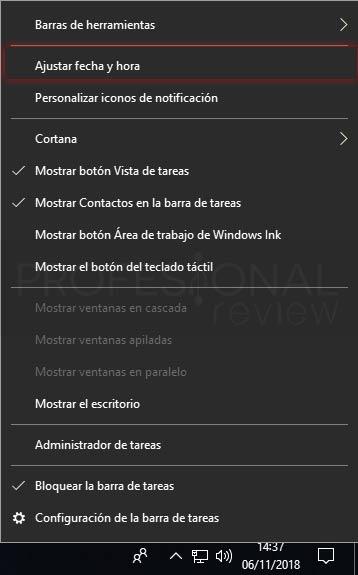 Cambiar hora en Windows 10 tuto01