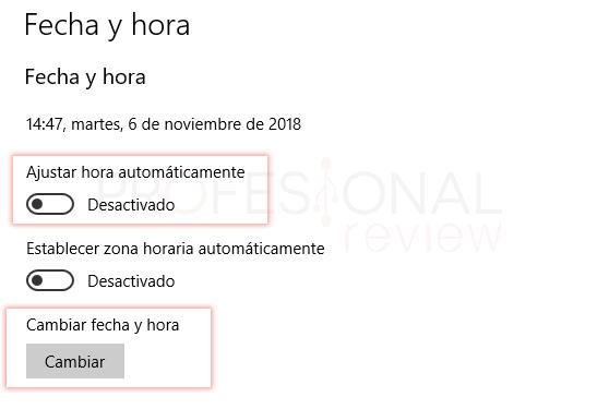 Cambiar hora en Windows 10 tuto04