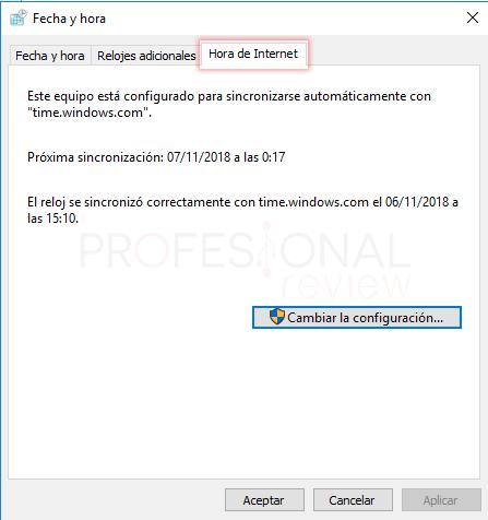 Cambiar hora en Windows 10 tuto07