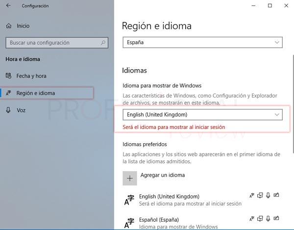 Cambiar idioma de teclado Windows 10 tuto02