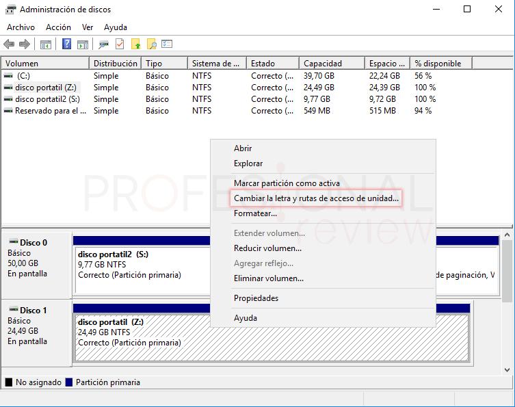 Cambiar letra de unidad en Windows 10 tuto07
