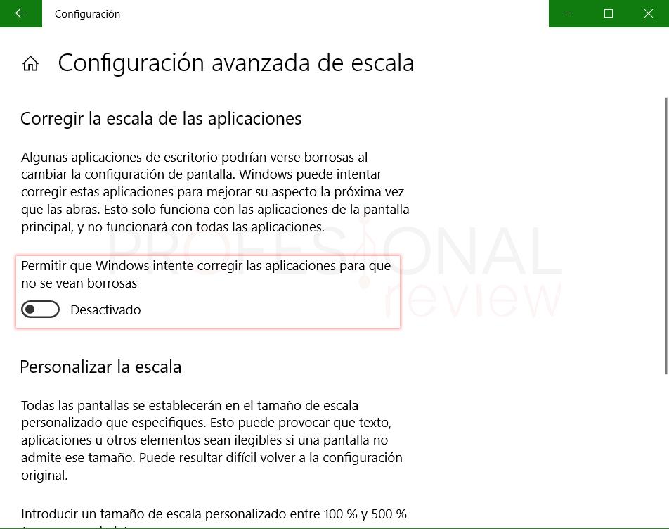Cambiar tamaño de letra Windows 10 tuto05