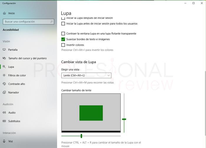 Cambiar tamaño de letra Windows 10 tuto11
