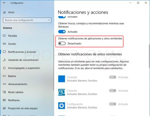 Centro de actividades Windows 10 tuto09
