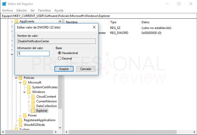 Centro de actividades Windows 10 tuto14