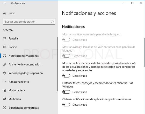 Centro de actividades Windows 10 tuto15
