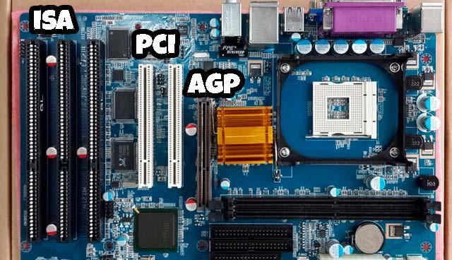 conexiones ISA, PCI y AGP