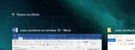 Crear escritorio en Windows 10 tuto03