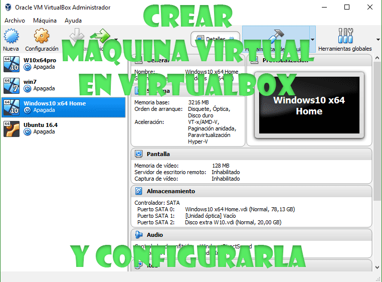 Crear máquina virtual en VirtualBox