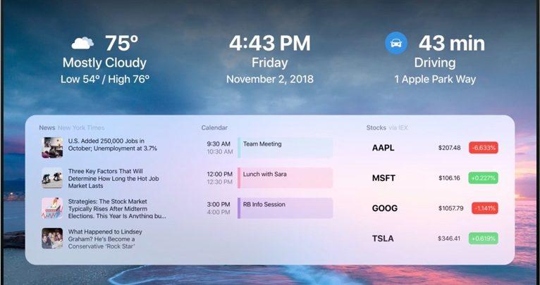 Photo of Un dashboard en tu Apple TV