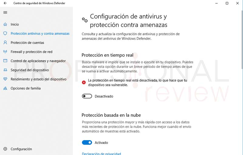 Desactivar Windows Defender tuto05