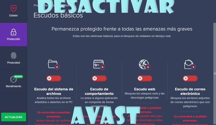 Photo of Como desactivar Avast temporalmente o de forma definitiva