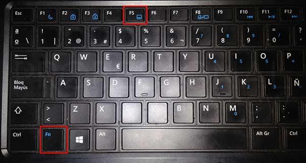 Desactivar touchpad en Windows 10 tuto01