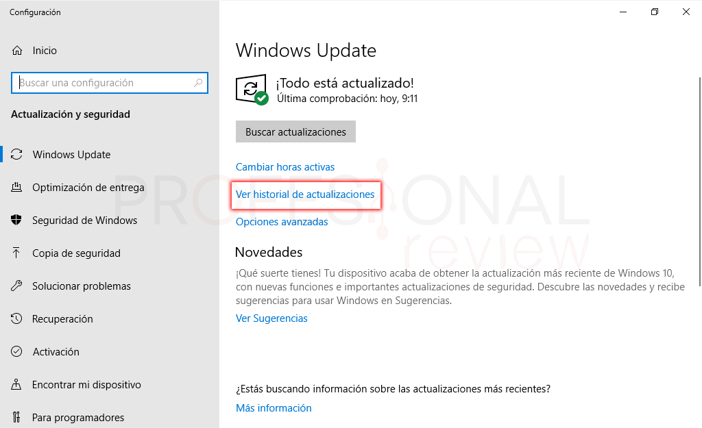 Desinstalar actualizaciones Windows 10 tuto02