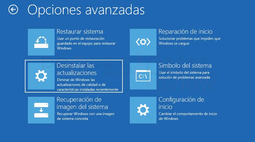 Desinstalar actualizaciones Windows 10 tuto09