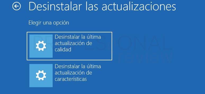Desinstalar actualizaciones Windows 10 tuto10