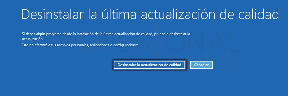Desinstalar actualizaciones Windows 10 tuto11