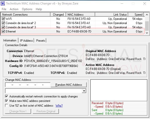 Dirección MAC en Windows 10 tuto06