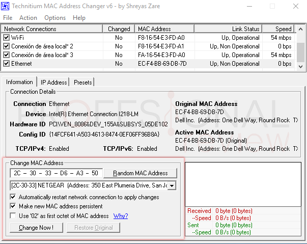Dirección MAC en Windows 10 tuto07