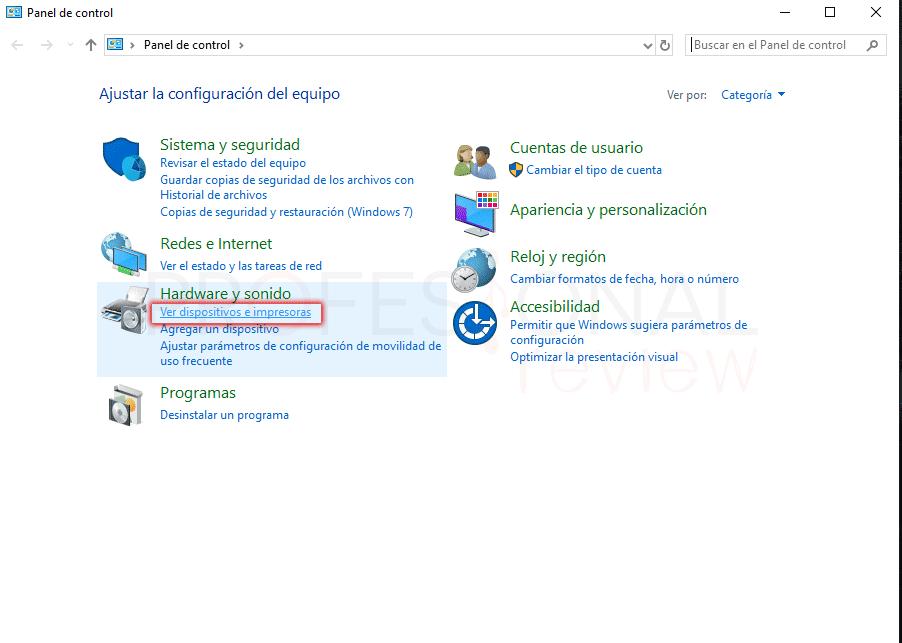 Eliminar cola de impresión en Windows 10 paso 07