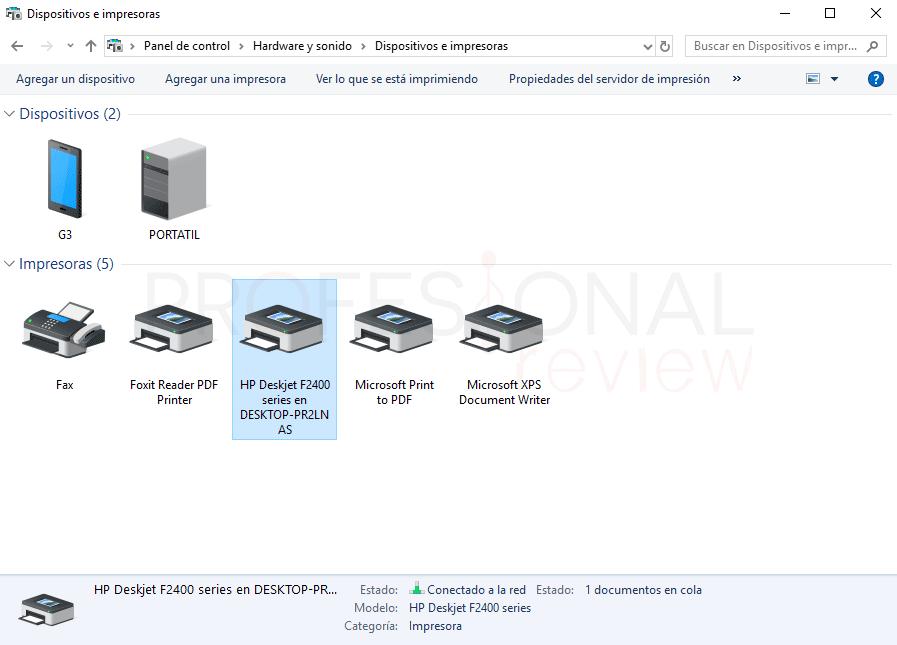 Eliminar cola de impresión en Windows 10 paso 08