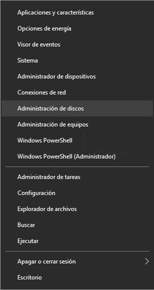 Eliminar particiones en Windows 10 tuto01
