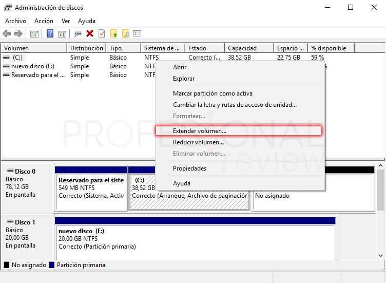 Eliminar particiones en Windows 10 tuto05