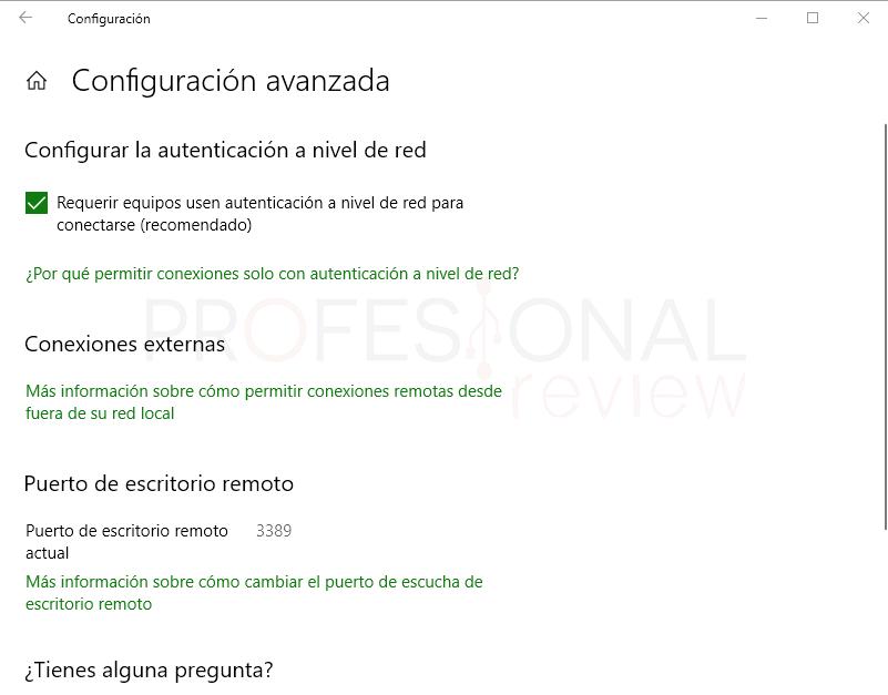 Escritorio remoto Windows 10 paso 03