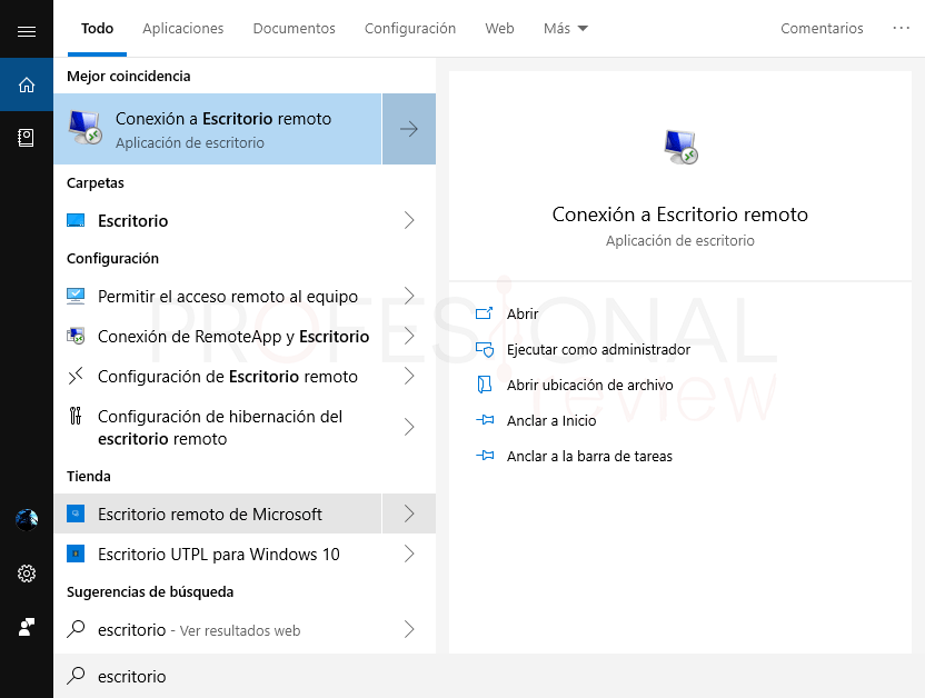 Escritorio remoto Windows 10 paso 09