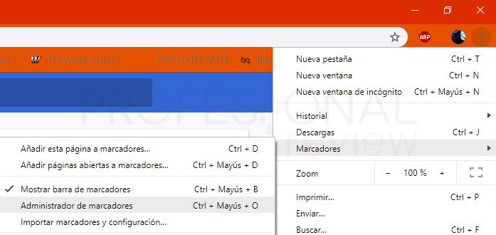 Exportar marcadores desde Chrome paso 05