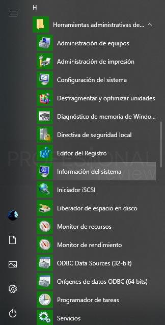 Herramientas administrativas Windows 10 paso 01